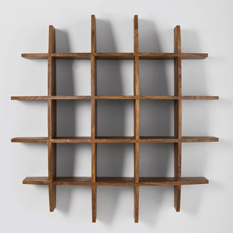 Curvy Sheesham Wood Wall Rack