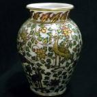 Arabain Gold & Green Tall Vase